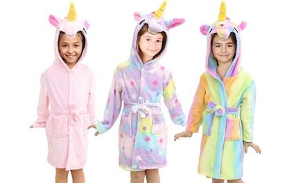 Albornoz de unicornio para niños con capucha