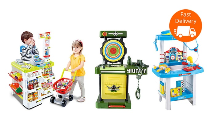 $29 for a Kids' Tool Shed, Kitchen, Medical, or Military Playset (Don't Pay up to $119)