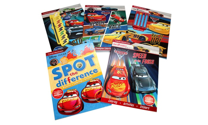 disney cars books bundle of 6