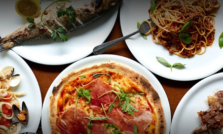 Two or ThreeCourse Italian Dinner with Wine for up to Four at Giotto Restorante Italiano