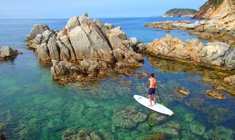 Clase de paddle surf para 1 o 2 personas desde 14 € en Paddle Surf La Fosca