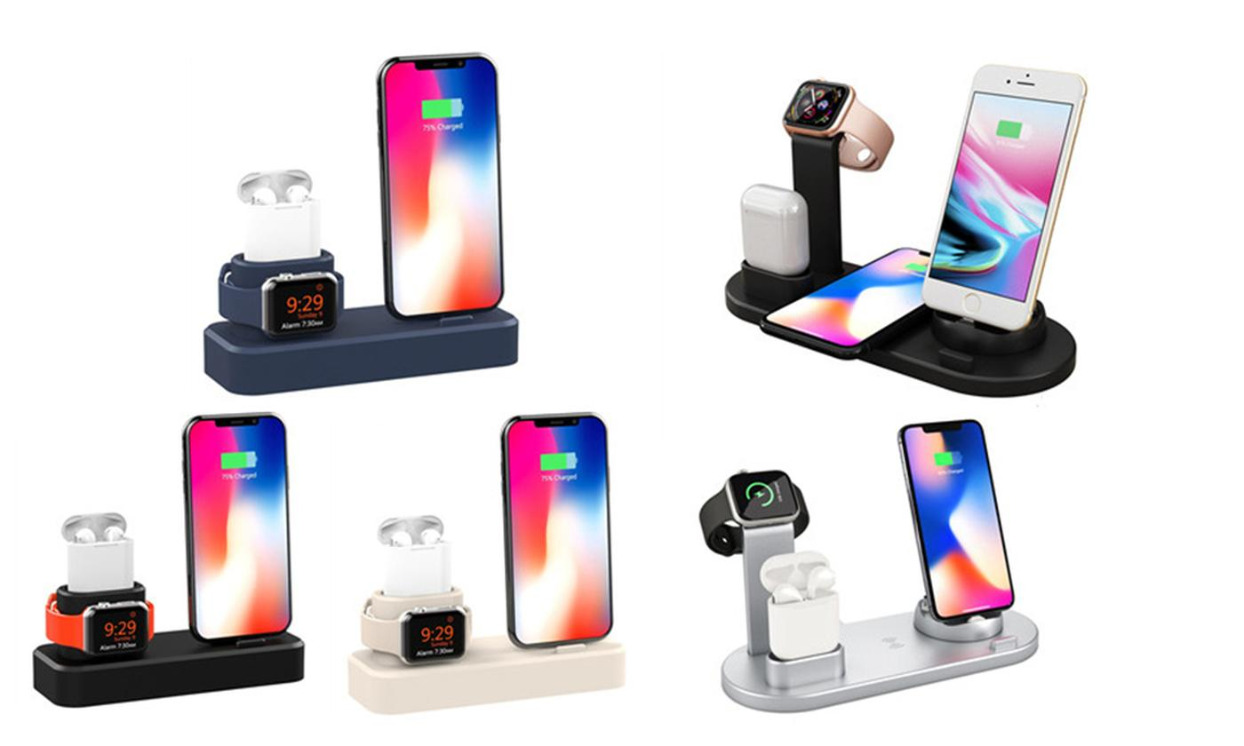 Magnetic Multifunction Charging Base for Apple iWatch, AirPods® and iPhone in Choice of Design