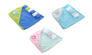 Honey Baby Hooded Towel with Washcloths Set (6-Piece)