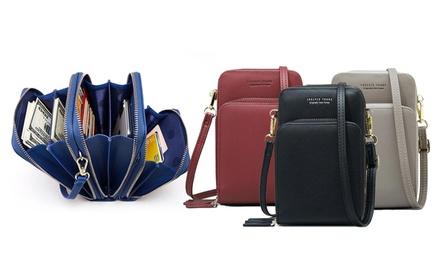 1 o 2 bolsos cruzados con 6 compartimentos