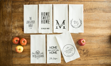 Personalised Christmas Tea Towels: One ($5), Two ($9.50), Four ($18) or Six ($25.50) from Qualtry (Up to $163.92 Value)