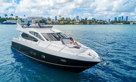 Four-, Six-, or Eight-Hour Boat Charter of the Sunseeker Manhattan 70' from Yacht Charter Miami (Up to 26% Off)