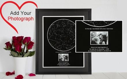 Carte des étoiles représentant un moment magique sur le site My Sky Moment à 16,90 € (62% de réduction)