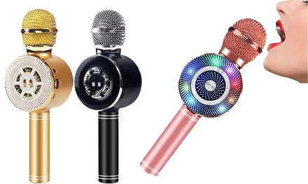 Wireless Bluetooth Karaoke Microphone with BuiltIn Speaker: One $25 or Two $45