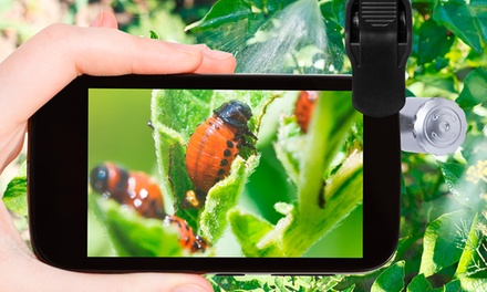 Microscope avec Led pour smartphone