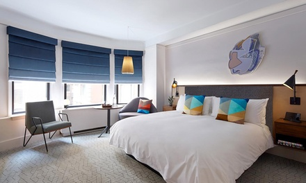 Stay at 4-Star The James New York - NoMad. Dates into October.
