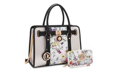 5f57928f49355f Shop Groupon Marco Collection Padlock Satchel Purse with Designer Wallet