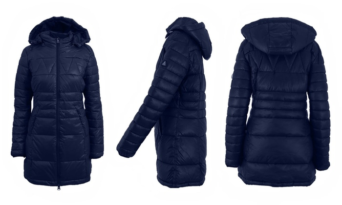 df0c9eb9143 Galaxy Spire Women s Silhouette Puffer Jackets. Plus Sizes Available.