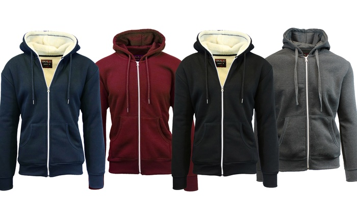Men's Heavyweight Sherpa and Fleece-Lined Hoodies (2-Pack)