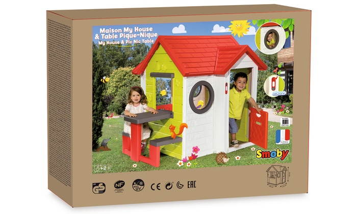 Smoby House And Picnic Table Groupon Goods
