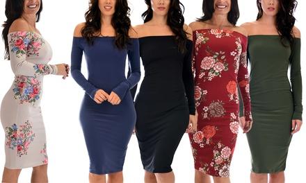 Lyss Loo Women's Love Poem Off The Shoulder Bodycon Dress