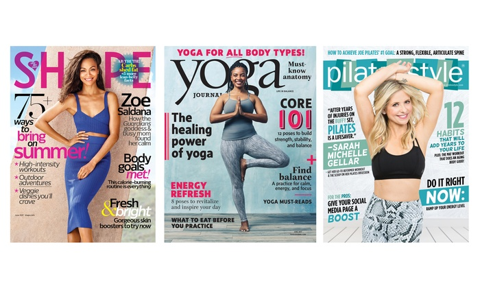 Magazine subscription yoga journal shape and pilates for Style at home subscription deal