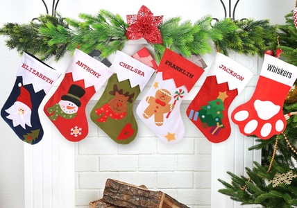 One, Two, or Four Personalized Holiday Stockings from Monogram Online (Up to 75% Off)
