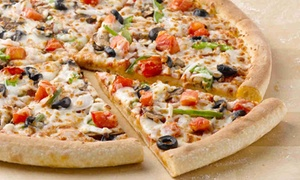 Papa John's Pizza: Two Groupons, Each Good for One Large Pizza with Up to Three Toppings from Papa John's (46% Off). Five Locations