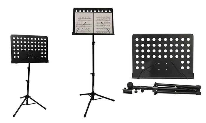 ChromaCast Pro Series Black Folding Music Stand: ChromaCast Pro Series Black Folding Music Stand