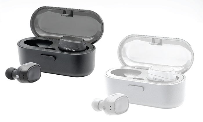 ec21d0373f5 Fisher FTW100 Freedom Sound True Wireless Earphones with Portable Charging  Case