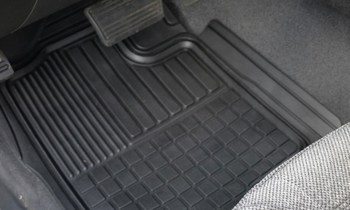 Up To 27 Off On Motor Trend Car Front Mat Set Groupon Goods