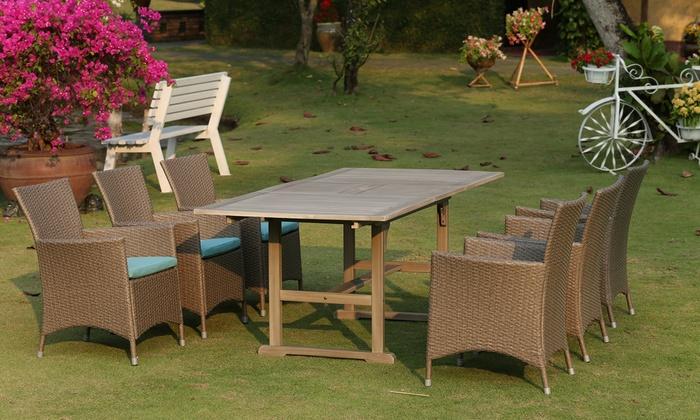 Set giardino con tavolo e 6 sedie groupon for Groupon giardino