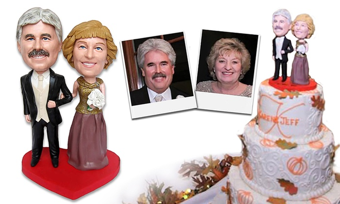 Personalized Wedding Bobbleheads (2-, 4-, or 6-Piece) from BigBobble.com
