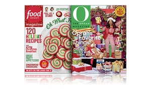 1-Year Subscription to Food Network Magazine or O, The Oprah Magazine at Hearst Magazines, plus 6.0% Cash Back from Ebates.