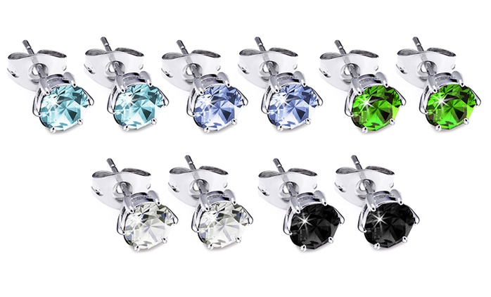 Crystal Stud Earrings Made with Crystals from Swarovski® for £1