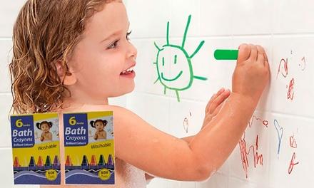 Lot de 6 crayons de bain pour enfants (SaintEtienne)
