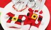 Fundas para cubiertos Navidad