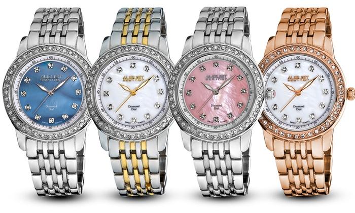 August Steiner Women's Diamond Bracelet Watches: $39.99 for an August Steiner Diamond Bracelet Watch (Up to $395 List Price). Multiple Styles Available.