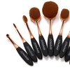 Black and Gold Oval Brush Set (10-Piece)