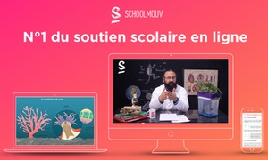 Schoolmouv: 3, 6 ou 12 mois de cours de soutien scolaire en ligne avec Schoolmouv dès 39 €