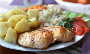 Restauracja Krym: Danie główne, zupa i kompot: 24,99 zł za zestaw dla 2 osób i więcej opcji w restauracji Krym