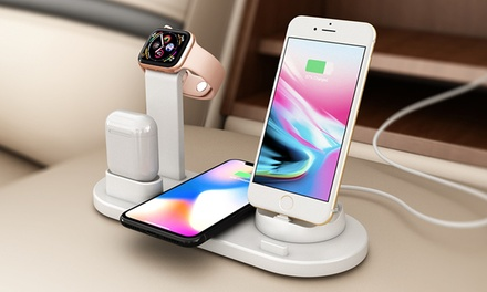 ThreeinOne Rotatable Charging Dock with Wireless Charging for iPhone: One $29.95 or Two $39.95