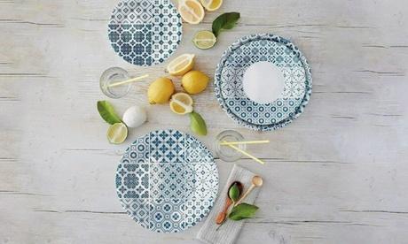 Image of Servizio di piatti per 6 persone da 18 pezzi Rocco Bormioli
