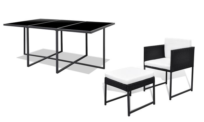 table manger pour jardin ou terrasse groupon. Black Bedroom Furniture Sets. Home Design Ideas