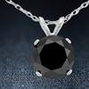 1 CTW Solid Sterling Silver Genuine Black Spinel Necklace