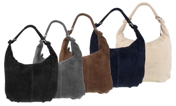 Oversized Suede Hobo Bag