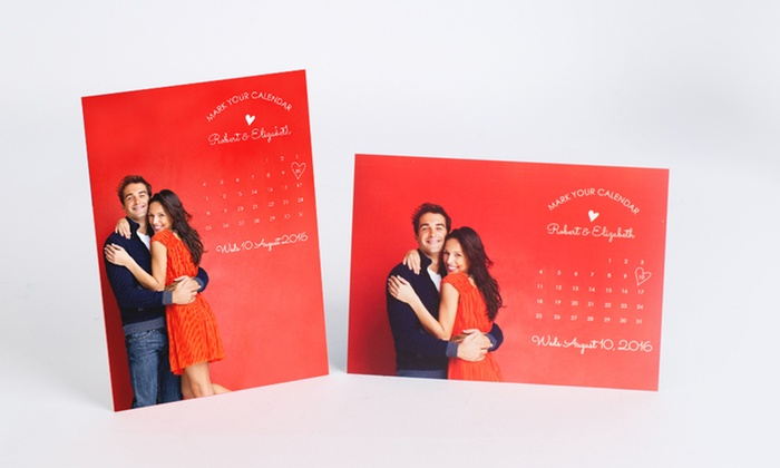 Photobook Canada: Custom Save the Date Magnets from Photobook Canada (Up to 73% Off)