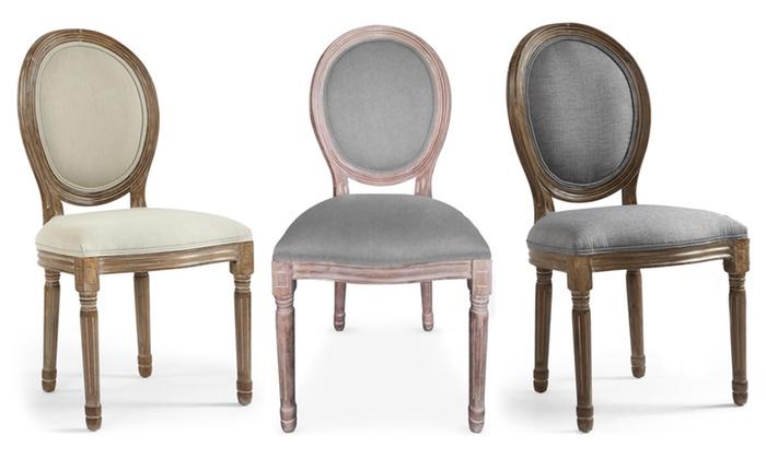 192a60d62c806 Lot 2 chaises médaillon Louis XVI | Groupon