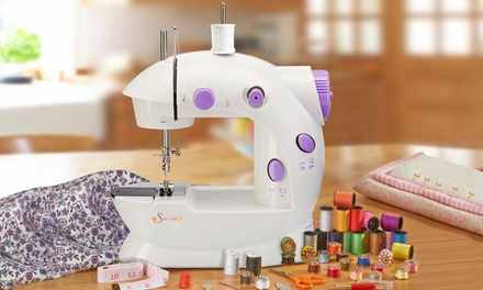 Compact Sewing Machine with Accessory Kit and Scissors from £19.99
