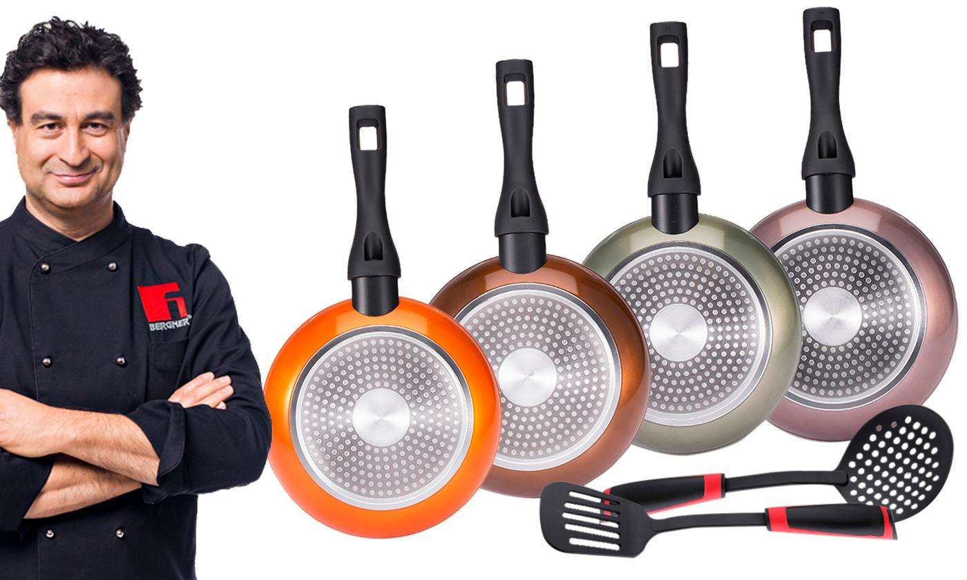 Bergner Neon Classic Pan Collection with Utensils