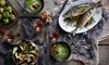 Fischplatte mit Lachs und Scampi