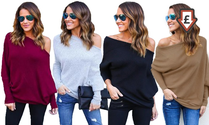Women's Off-Shoulder Jumper From £9.98