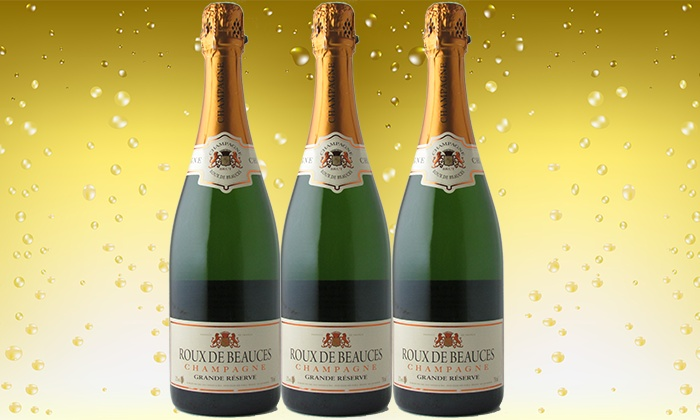 Splash Wines: Three Bottles of Roux de Beauces French Champagne from Splash Wines (Up to 65% Off)