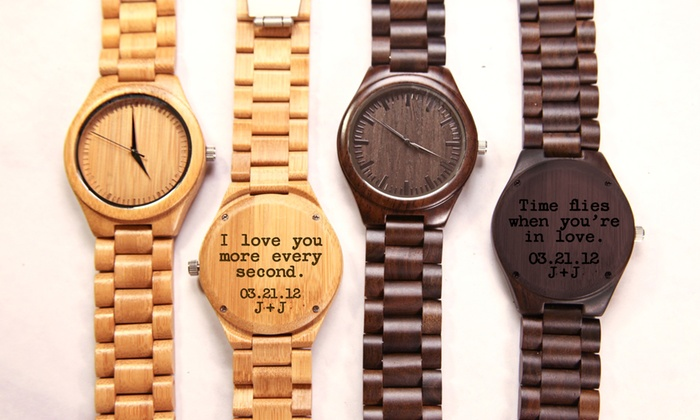 Custom Engraved Wood Link Watches at CabanyCo (Up to 32% Off)