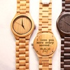 Up to 43% Off Custom Engraved Wood Link Watches