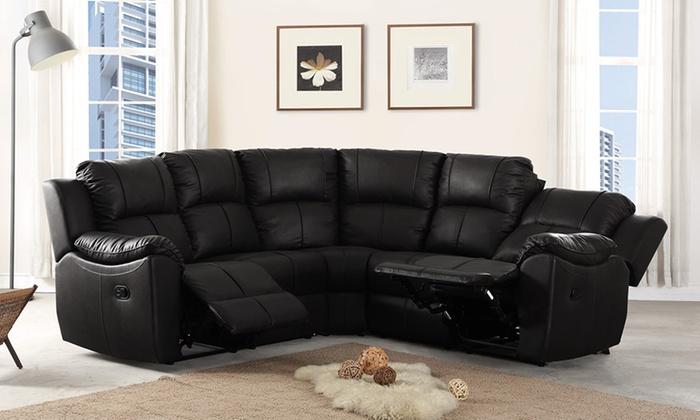 Harvard Leather Reclining Sofa